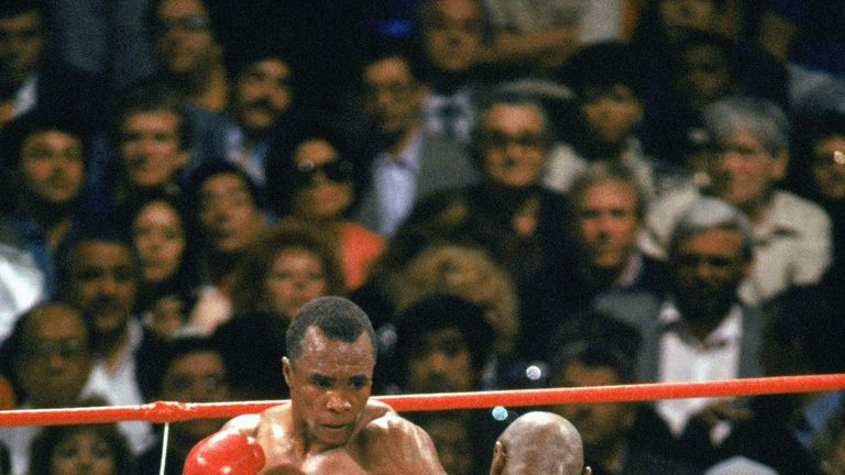 Sugar Ray Leonard (L) is one of Ashfaq's heroes