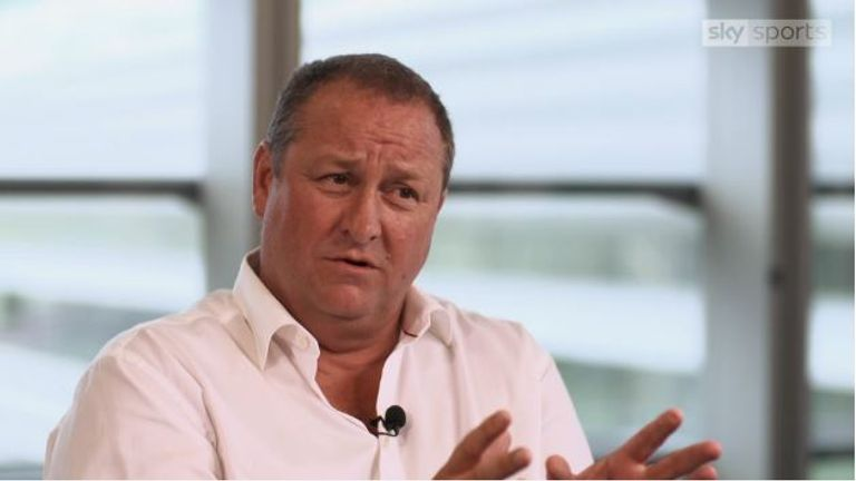 Mike Ashley gave an exclusive interview to Sky Sports News in August