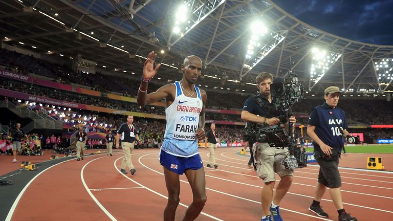 Farah won silver in the 5,000m World Championships final
