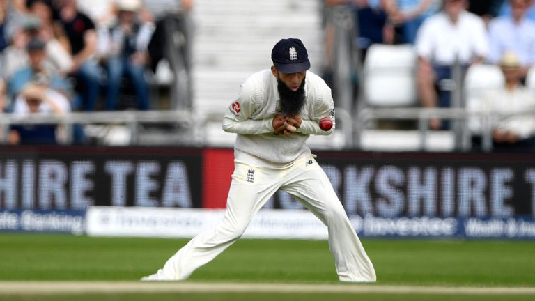 Moeen Ali dropped a costly chance at mid-on off Jermaine Blackwood