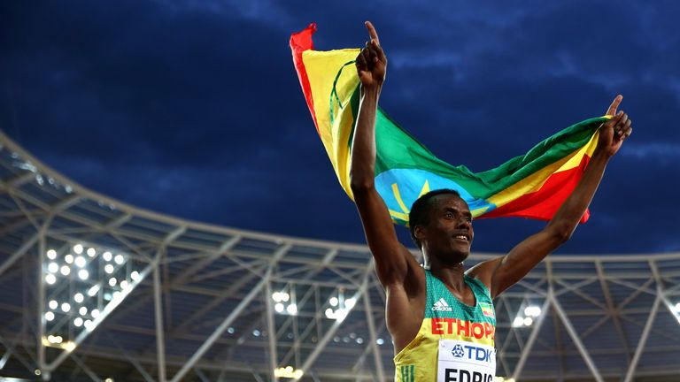 Muktar Edris of Ethiopia emerged triumphant in the 5,000m