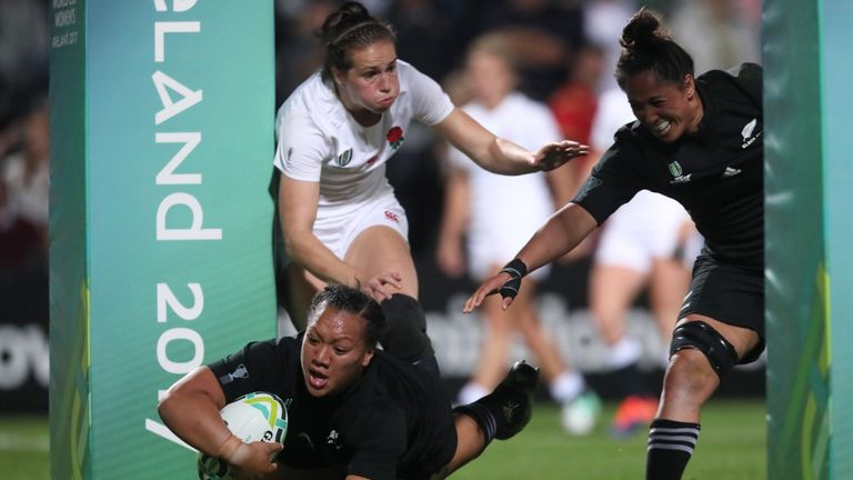 New Zealand's Toka Natua scored a hat-trick for the Black Ferns