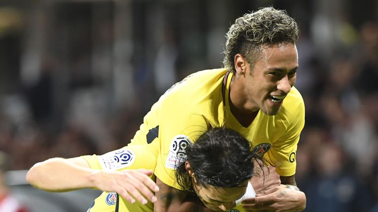 Neymar enjoyed a successful PSG debut on Sunday