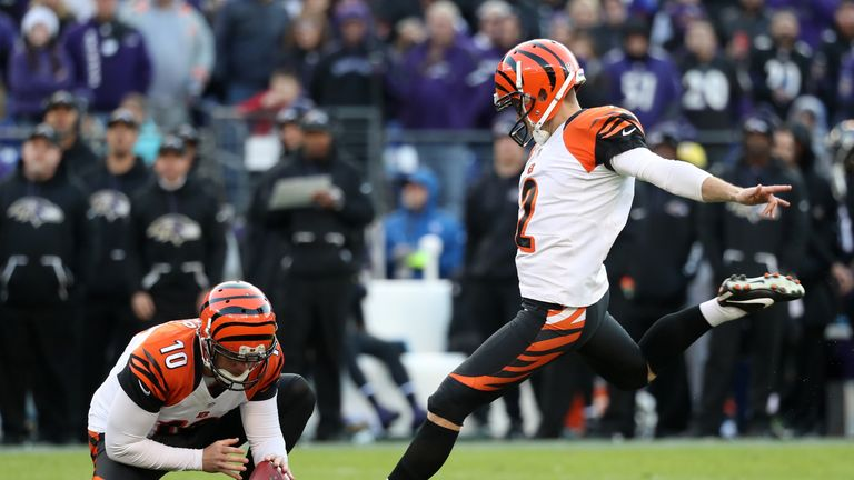 Giants Ink Former Bengals Kicker Mike Nugent