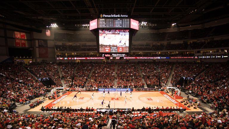 The Pinnacle Bank Arena regularly hosts basketball games
