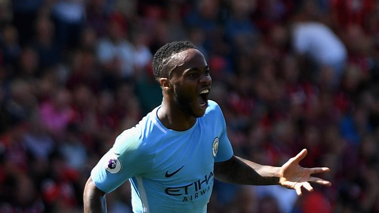 Raheem Sterling scored the winner for City at Bournemouth in August