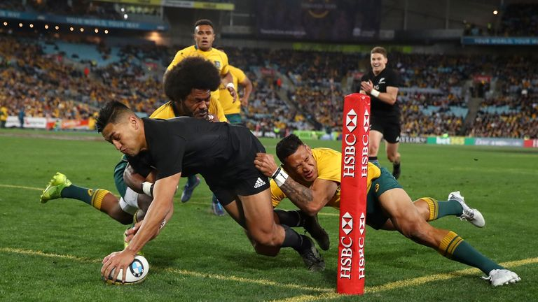 Rieko Ioane scored twice in the opening period, including one super finish in the corner