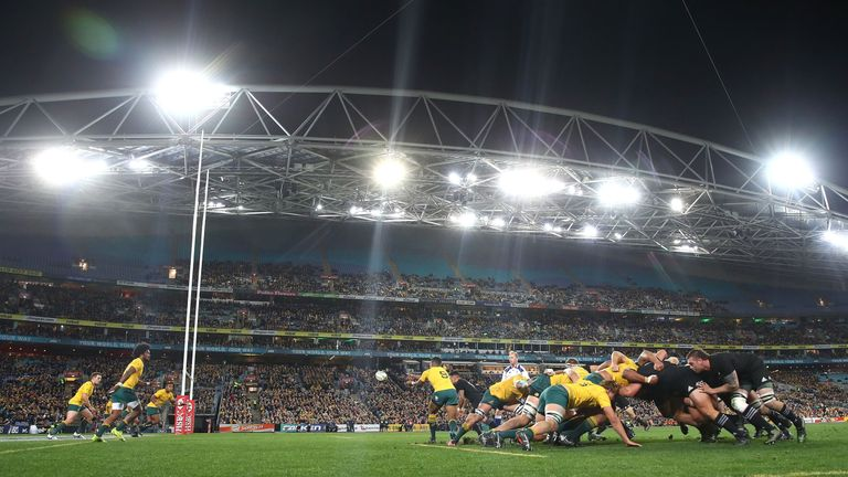 A record low crowd of 54,846 attended Saturday's Bledisloe Cup clash