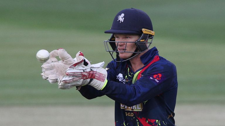 Sam Billings gave a fascinating demo at Canterbury