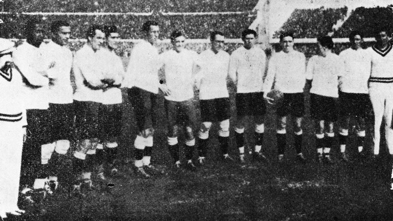 The Uruguayan football team who won the first World Cup competition held in Uruguay in 1930