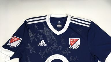 Win this shirt signed by stars of MLS including David Villa, Kaka and Bastian Schweinsteiger