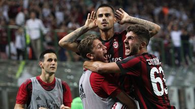 Suso scored the winning goal for AC Milan on Sunday