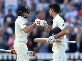Joe Root and Alastair Cook added 248 for England's third wicket