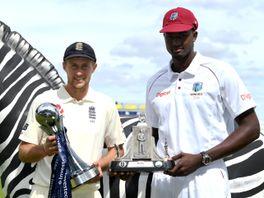 England captain Joe Root (left) and West Indies captain Jason Holder