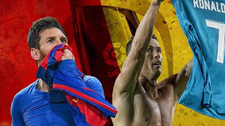 Barcelona's Lionel Messi and Real Madrid's Cristiano Ronaldo will battle for La Liga once again