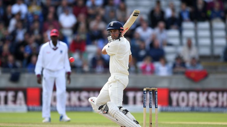 BIRMINGHAM, ENGLAND - AUGUST 18:  Alastair Cook of England bats during day two of the 1st Investec Test match between England and West Indies at Edgbaston