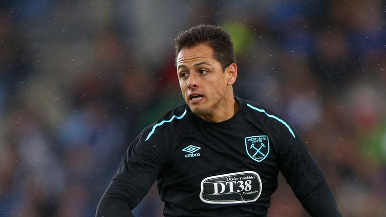 REYKJAVIK, ICELAND - AUGUST 04: Javier Hernandez of West Ham United in action during a Pre Season Friendly between Manchester City and West Ham United at t