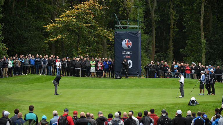Huge crowds gathered to watch the British Masters at Close House