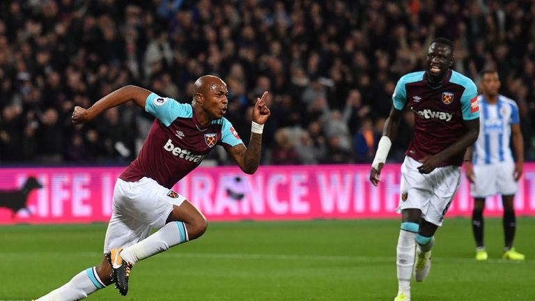 Andre Ayew netted the second in a 2-0 win at the London Stadium