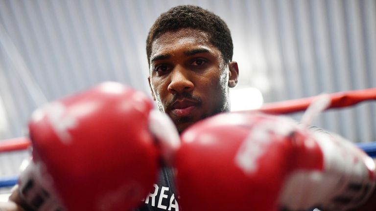 Anthony Joshua has been preparing for his world title fight with Carlos Takam this Saturday night, live on Sky Sports Box Office