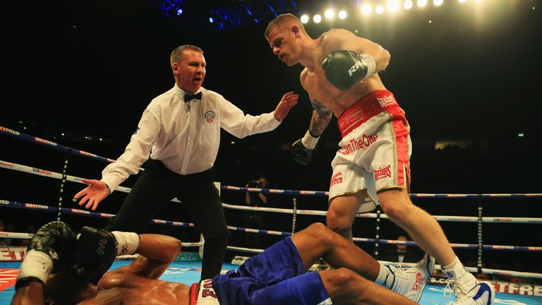 Johnson demonstrated his punch power during his Commonwealth title win