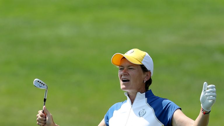 Solheim Cup captain Catriona Matthew will play in a mixed team with Ryder Cup skipper Thomas Bjorn
