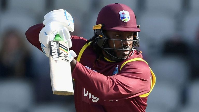 Chris Gayle hammered 11 sixes against UAE in Harare, including three in a row off Rohan Mustafa