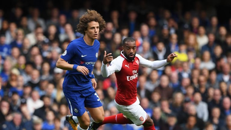 David Luiz was sent off late on in Chelsea's draw with Arsenal