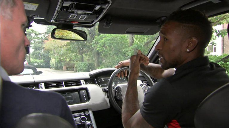 Carragher sang some James Arthur with Defoe Carpool Karaoke style!