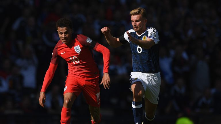 England and Scotland are battling to be in Russia next summer