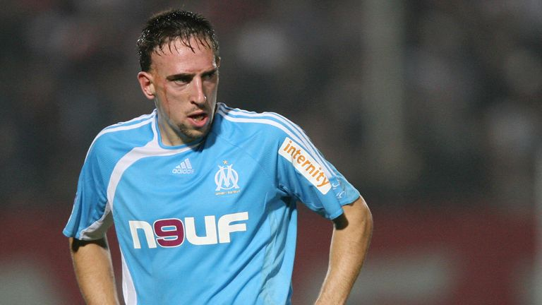 Franck Ribery was at Marseille when Ferguson showed brief interest in him