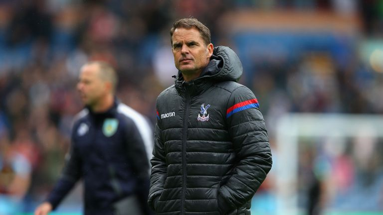 Frank de Boer was sacked by Palace