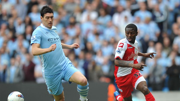 Barry played 69 minutes in Man City's famous title-winning victory over QPR