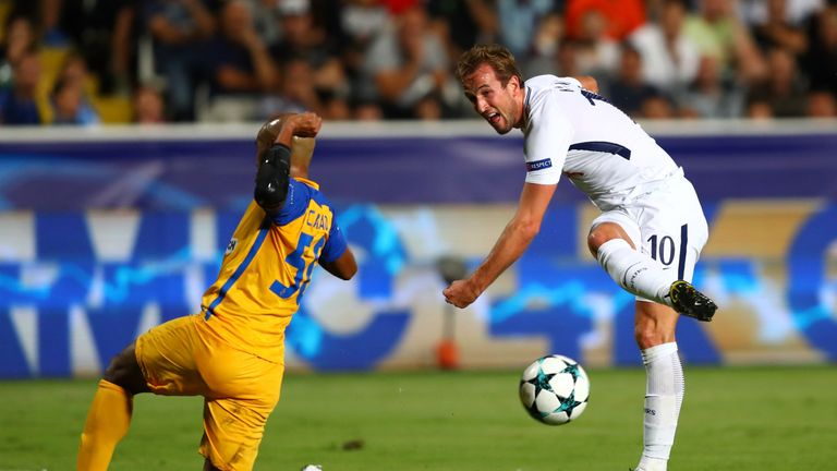 Kane scored his first Champions League hat-trick against Apoel Nicosia on Tuesday