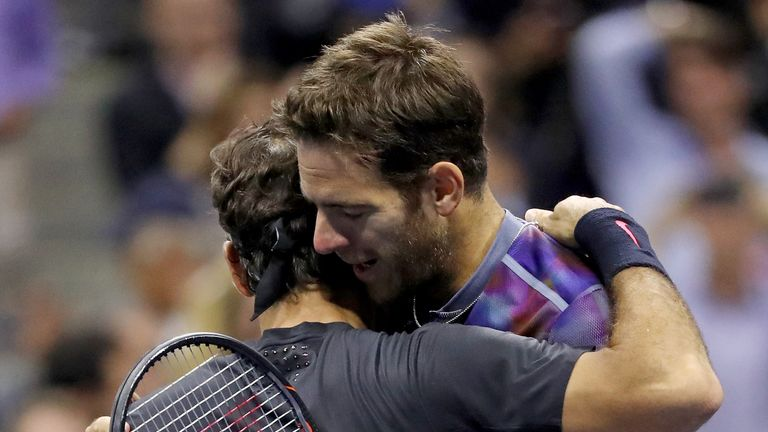 Del Potro and Federer played out a memorable final in 2009 and Del Potro was again the victor in New York