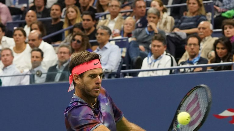 Del Potro will next face Rafael Nadal in the last four