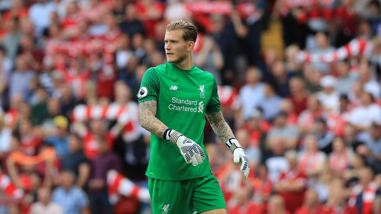 Loris Karius kept a clean sheet in Liverpool's 4-0 win over Arsenal last month