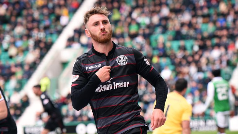 Louis Moult takes the plaudits after making it 2-1 at Easter Road