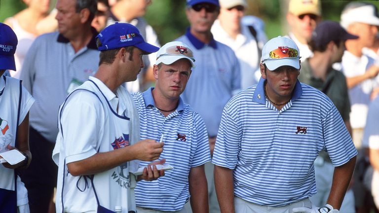 Luke Donald and Nick Dougherty played alongside each other during both days in 2001