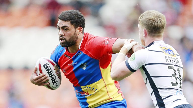 Mark Ioane put the Broncos into the lead but they struggle dot match Widnes' power