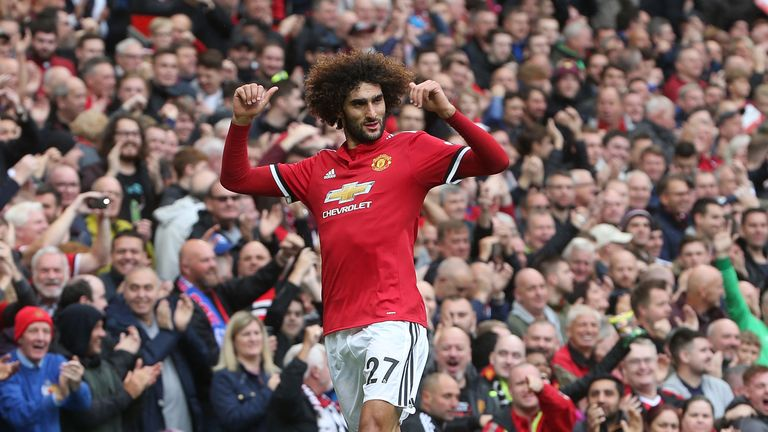 Marouane Fellaini ensured Crystal Palace's miserable Premier League record against Manchester United continued