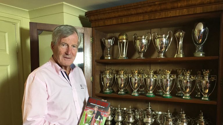 Edwards, pictured with his recently published memoir, was United chairman for 22 years