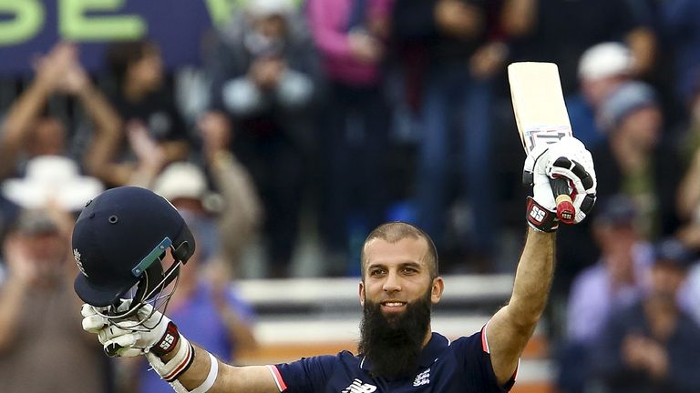 Moeen Ali took just 53 balls to score a century against the Windies