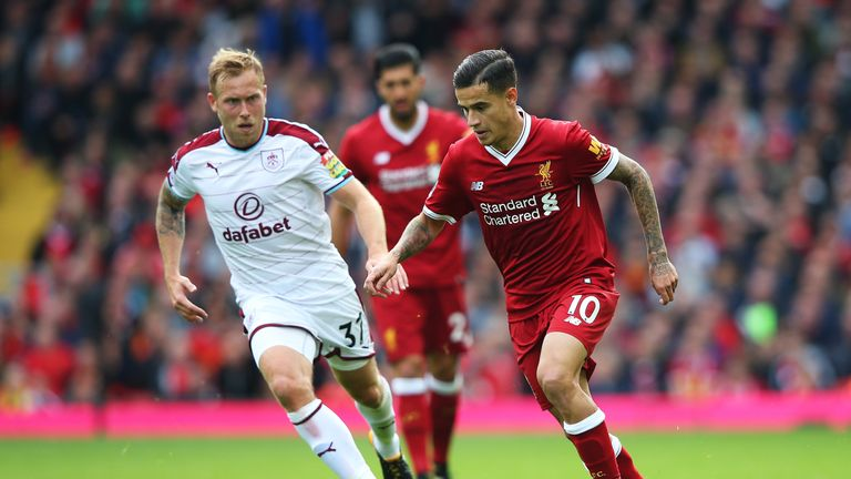 Philippe Coutinho returned to Liverpool's starting line-up