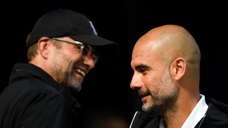 Jurgen Klopp and Pep Guardiola go head to head on Sunday