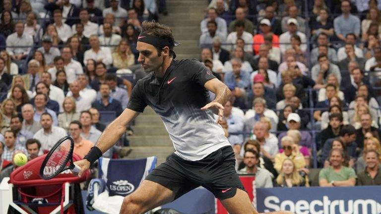 Roger Federer's hopes of a third Grand Slam of the year are over after a four set defeat