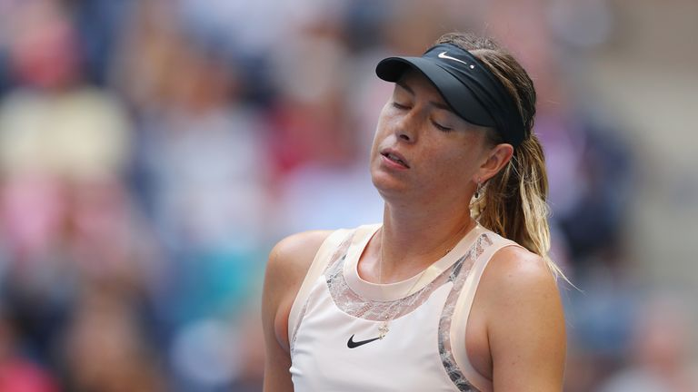 Sharapova knocked out of US Open fourth round