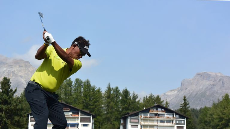 Thongchai Jaidee mixed an eagle with three birdies and a bogey during his round