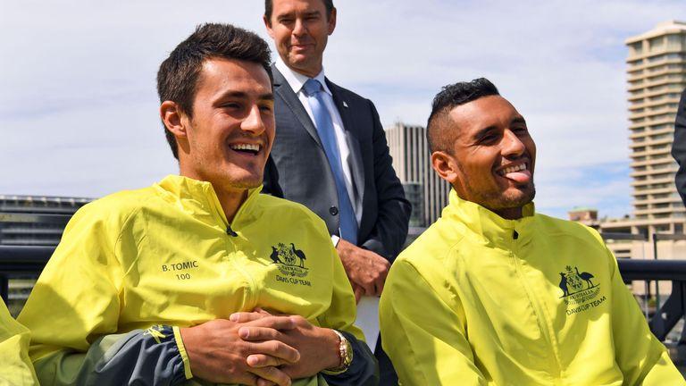Australian team-mates Bernard Tomic and Nick Kyrgios