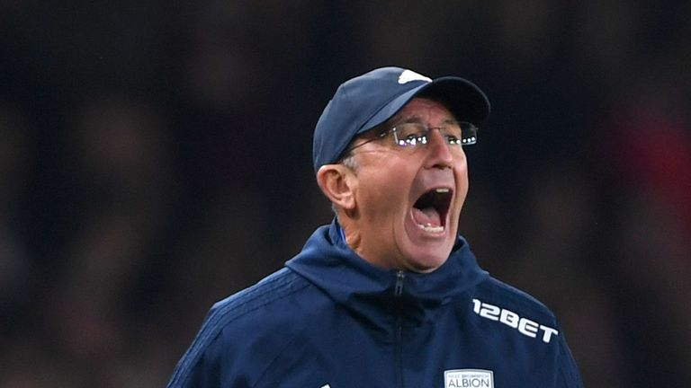 Tony Pulis is under pressure at West Brom